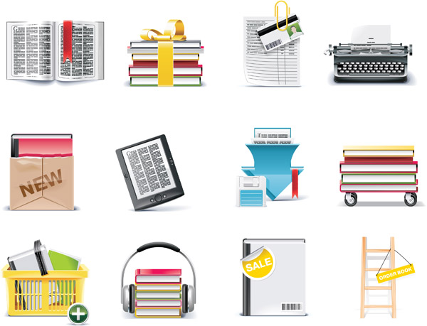 free vector More Complex Vector Material Books Bookmarks Gift