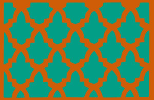 free vector Morroccan Lattice Tile clip art