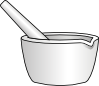 free vector Mortar With Pestle clip art