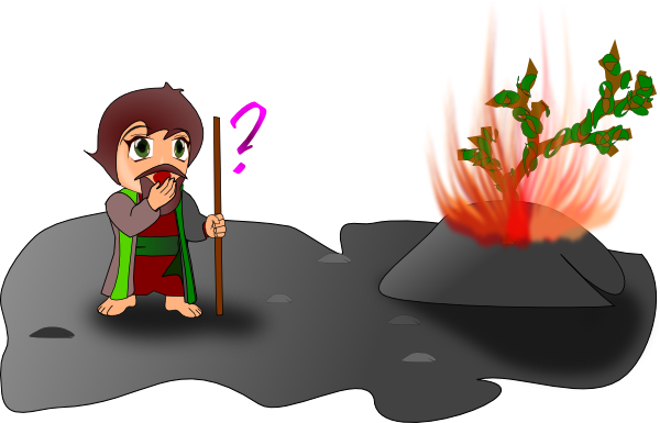 free vector Moses And The Burning Bush Chibi Version clip art