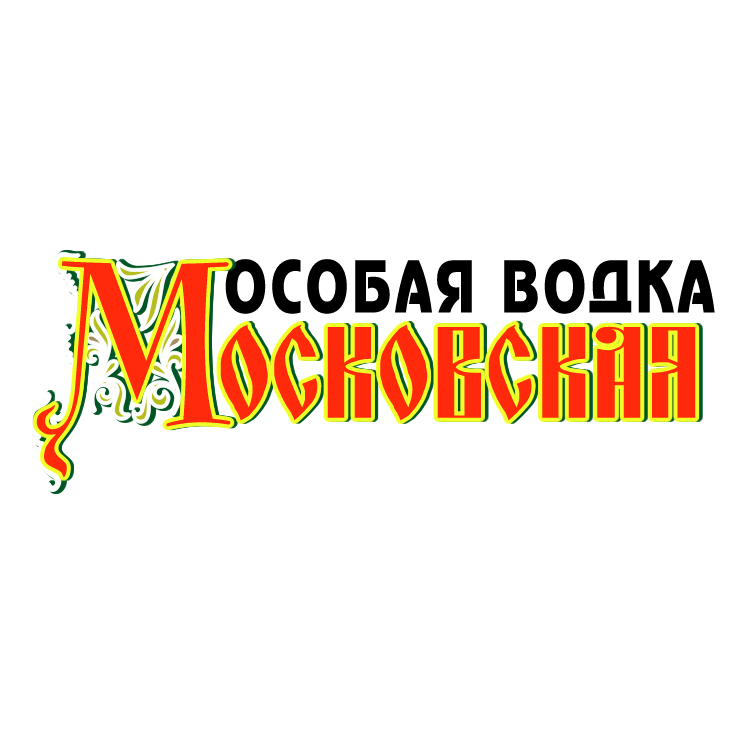 free vector Moskovskaya vodka 0