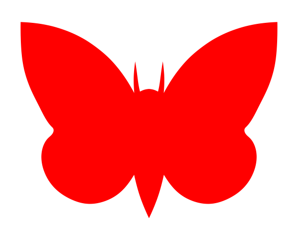 free vector Moth Red clip art