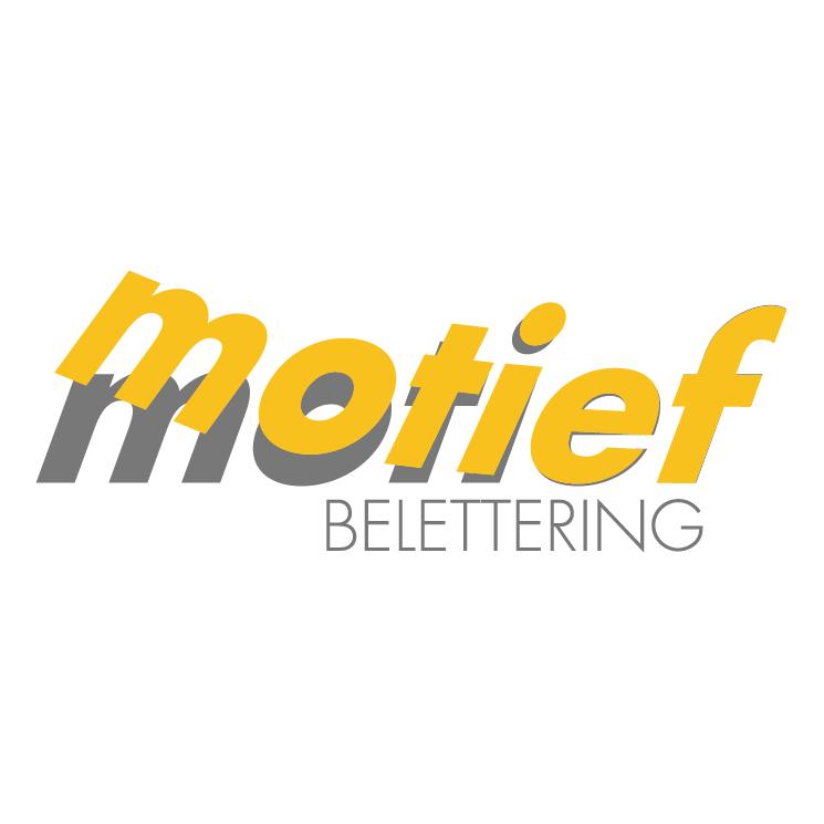 free vector Motief belettering