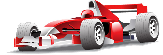free vector Motorcycle racing car vector material