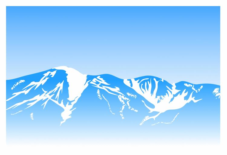 free vector Mountain background