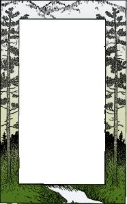 free vector Mountain Frame clip art