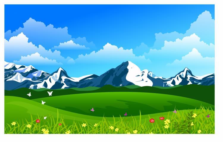free vector Mountain panorama