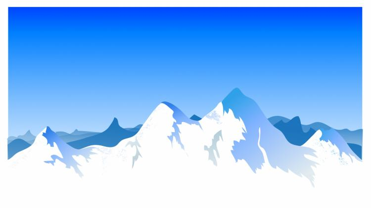 free vector Mountain range background