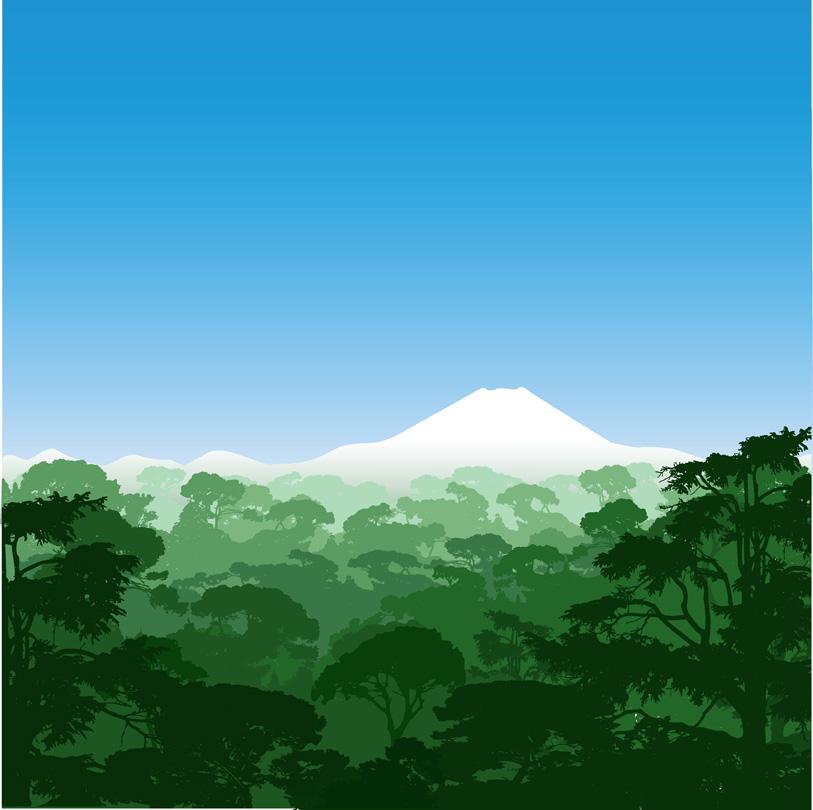 free vector Mountain scenery vector