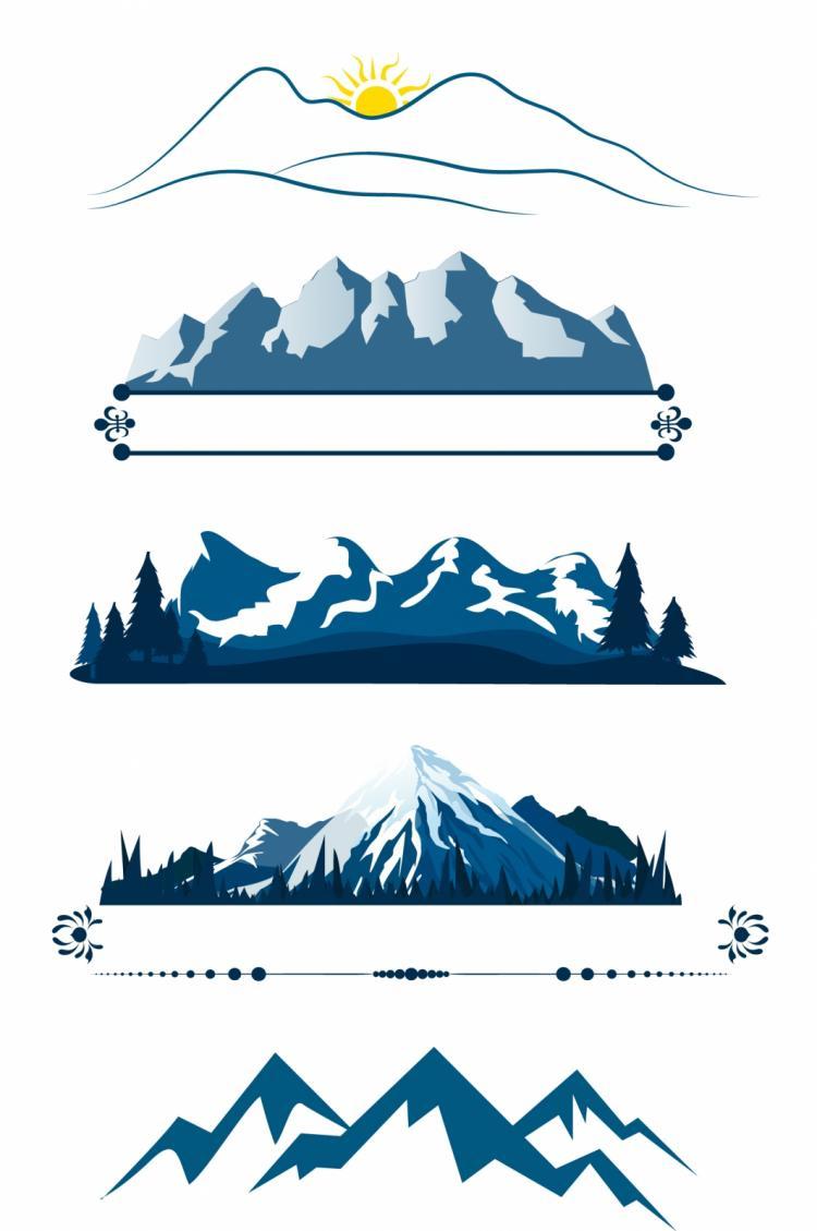 vector clip art mountain - photo #42