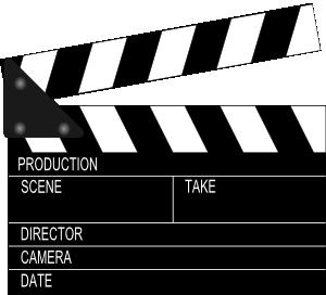 free vector Movie Clapper Board clip art