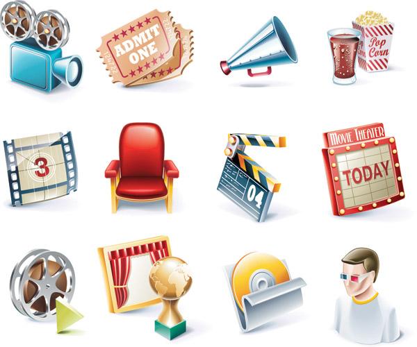 free vector Movie icon vector 1