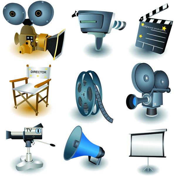 free vector Movie theme icon vector