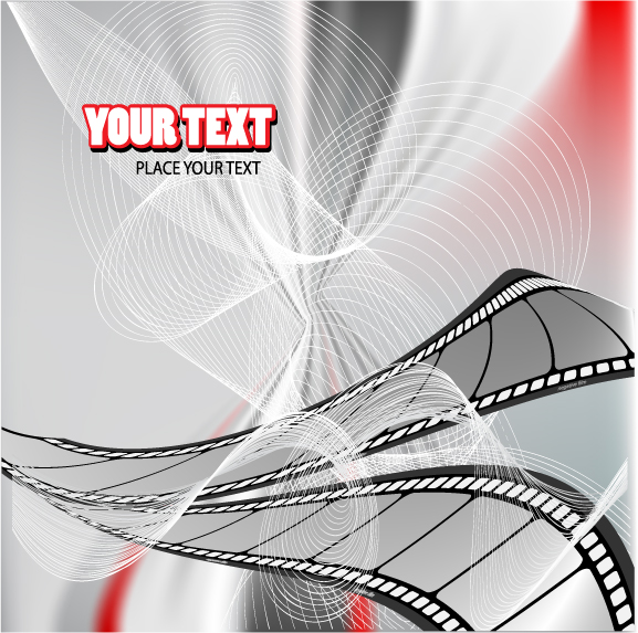 free vector Movie theme vector background