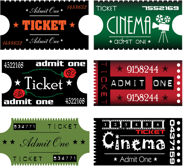 free vector Movie ticket clip art