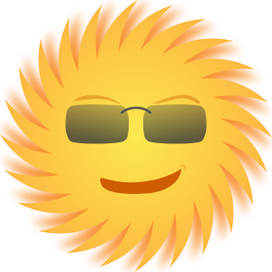 free vector Mr Sun clip art