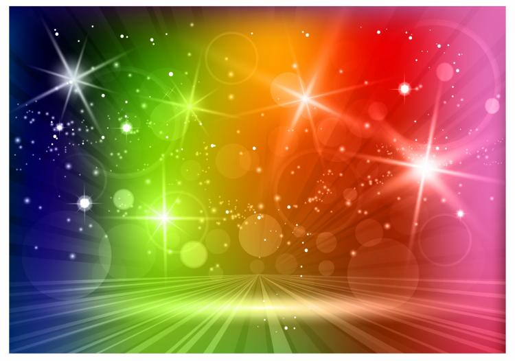 free vector Multicolored light effects background