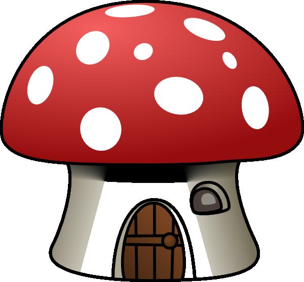 free vector Mushroom House clip art