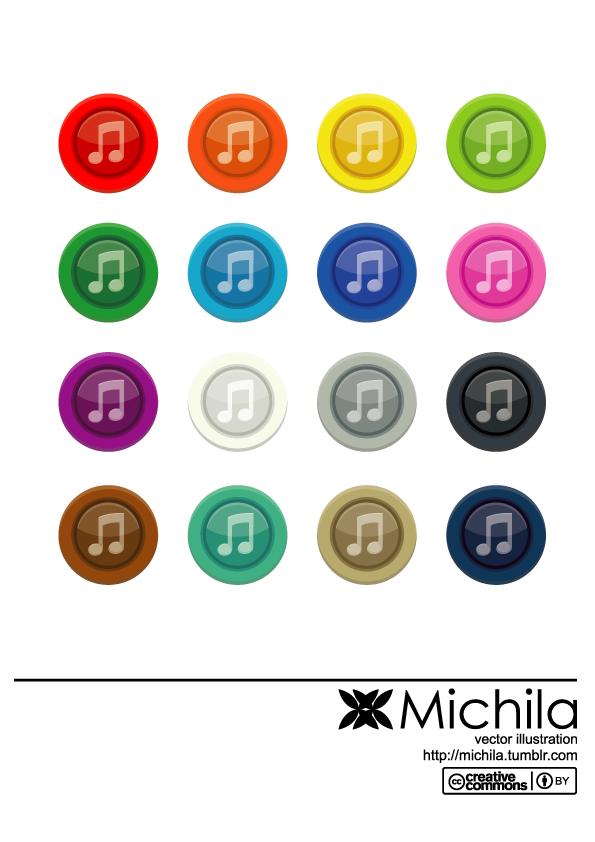 free vector Music Button Vector
