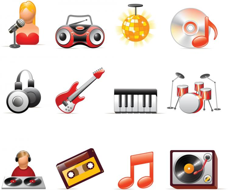 free vector Music icon vector