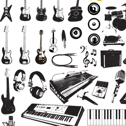 free vector Music Instruments Vector Graphics