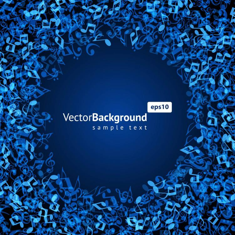 free vector Music keys blue background 03 vector