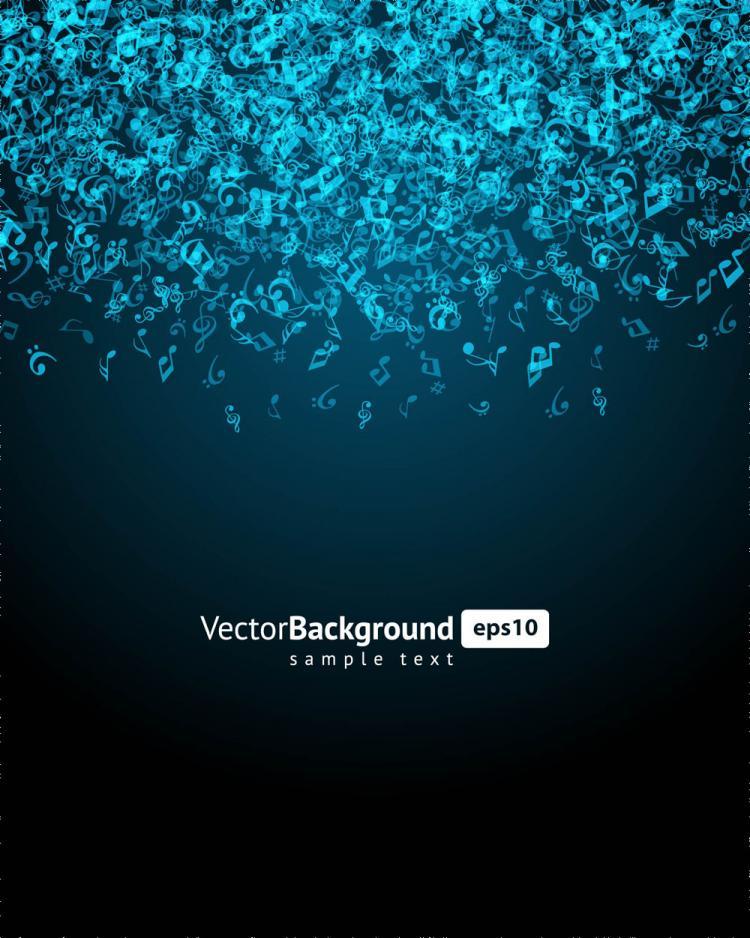 Music keys blue background 04 vector Free Vector / 4Vector