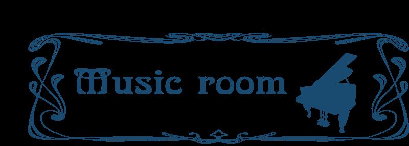 free vector Music room door sign