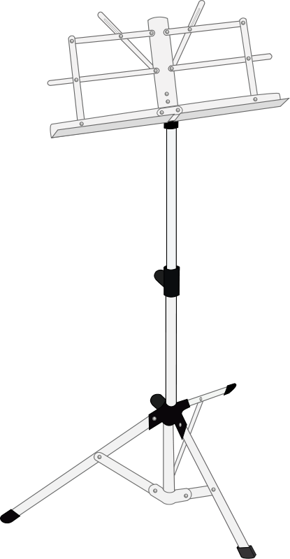 free vector Music stand