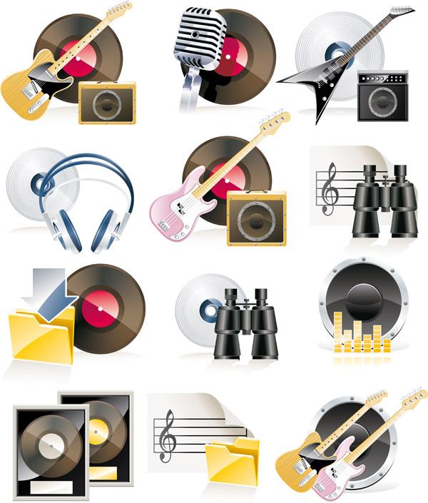 free vector Music theme icon vector