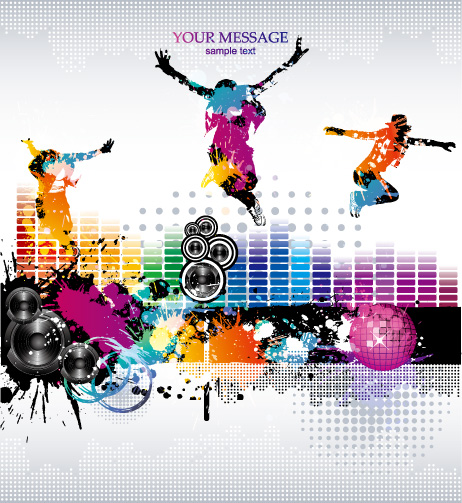 free vector Music theme vector the trend