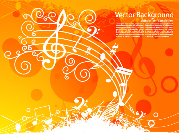 free vector Music theme vector