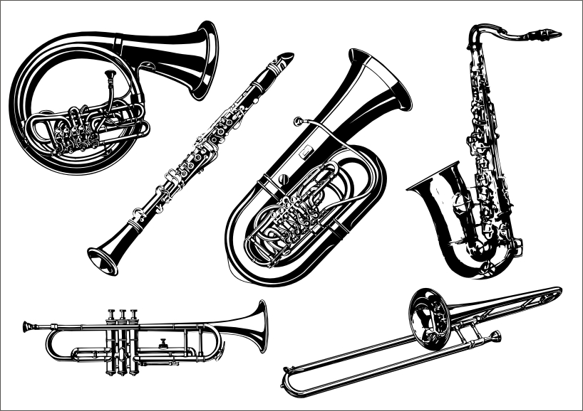 free vector Musical instruments the class vector a