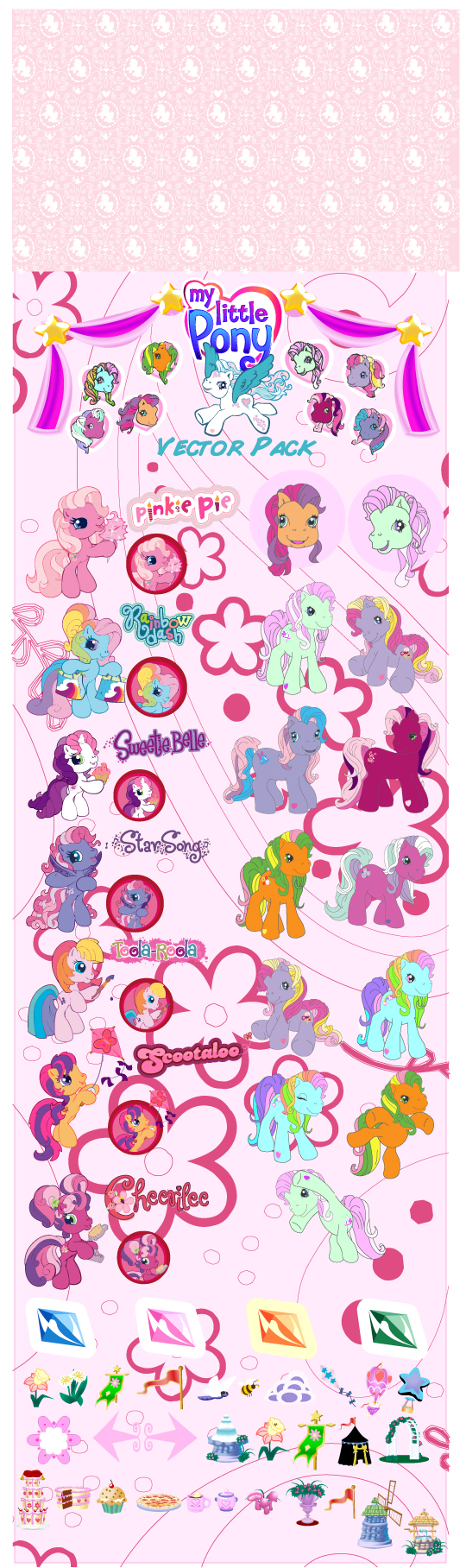 My little pony cartoon clip art Free Vector / 4Vector