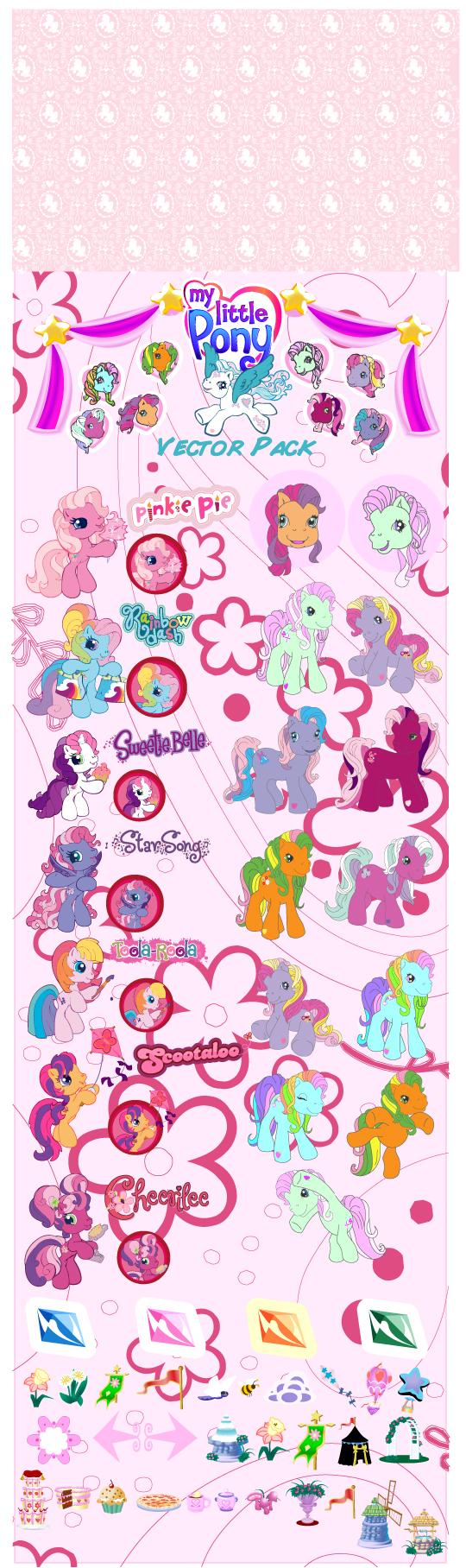 free vector My little pony cartoon clip art