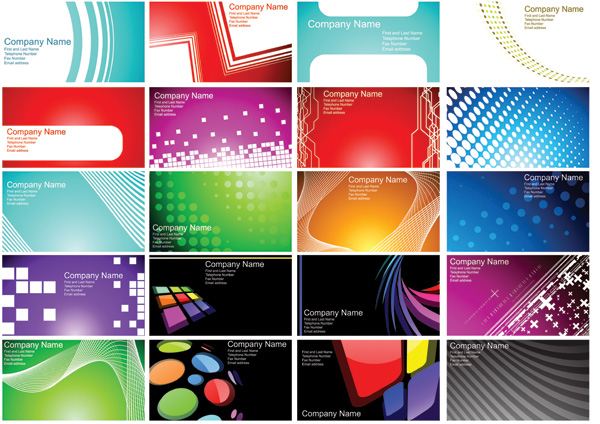 n a variety of card business card background  16428  free