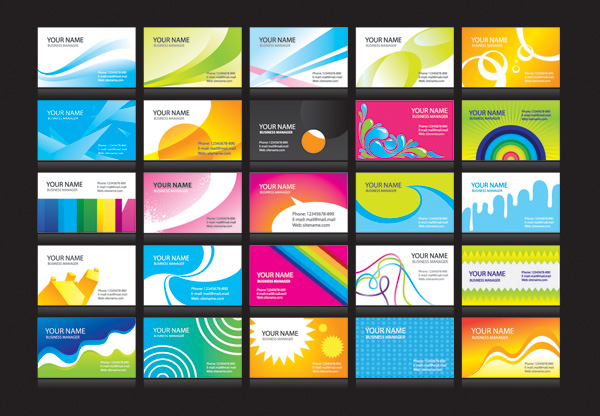 free vector N a variety of cheerful card background vector