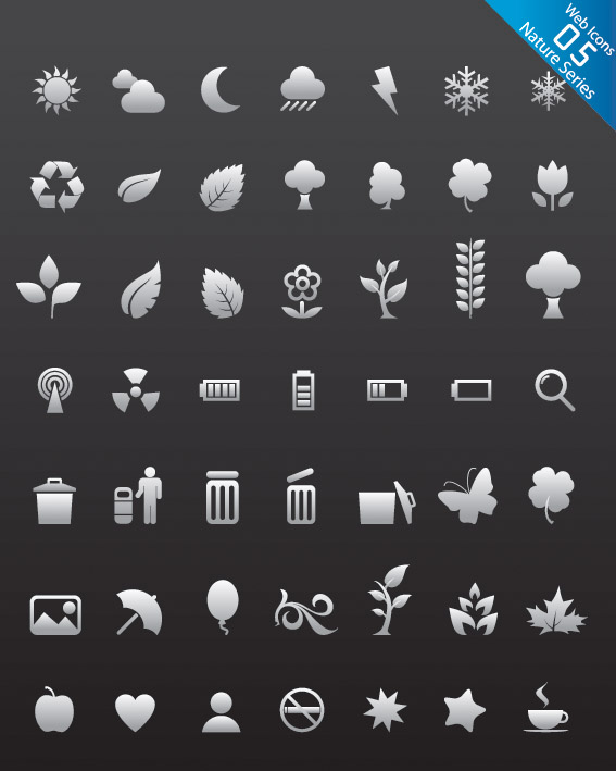 free vector N number of web design icon vector