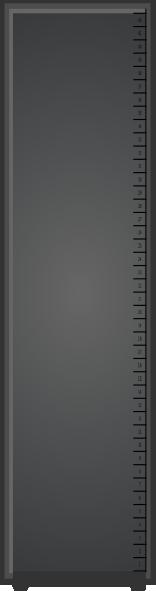 free vector Narrow Server Rack clip art