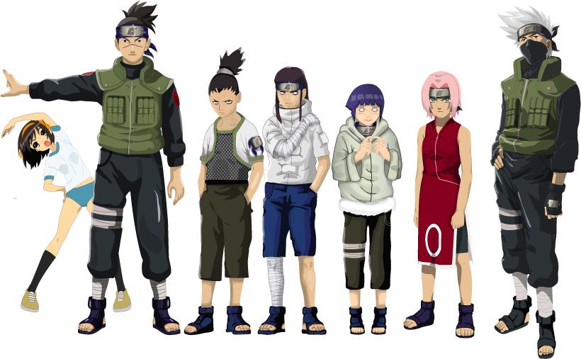 free vector Naruto characters vector material
