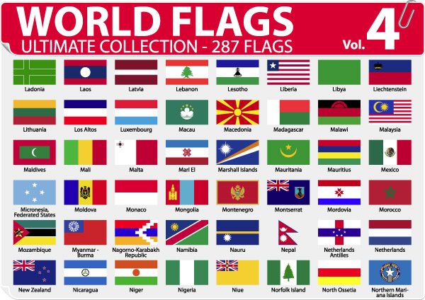 free vector National or regional flag and regional flag vector 4
