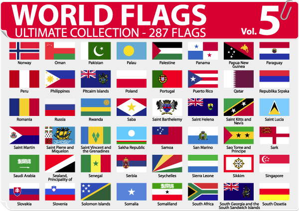free vector National or regional flag and regional flag vector 5