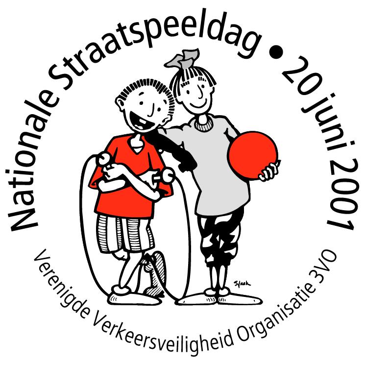 free vector Nationale straatspeeldag 20 juni 2001