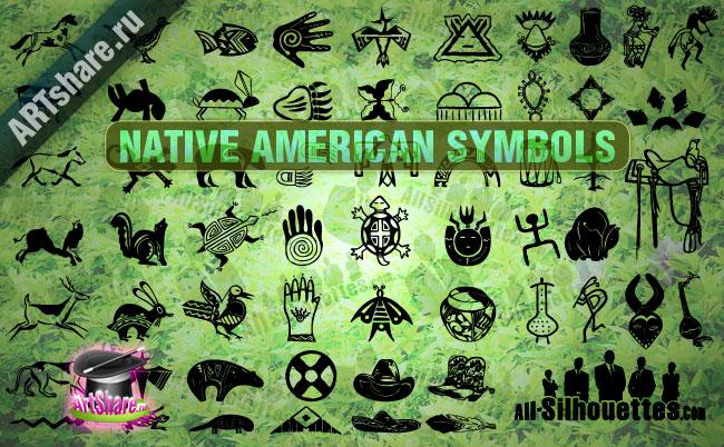 free vector Native American Symbols