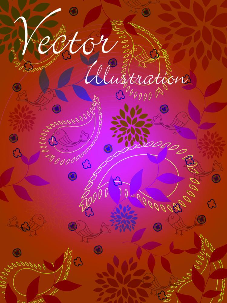 free vector Natural vector illustration line draft 02 vector