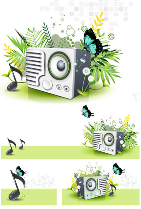 free vector Nature of the music vector