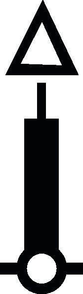 free vector Nautical Symbol International Beacon clip art