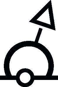 free vector Nautical Symbol International Sphere Buoy clip art