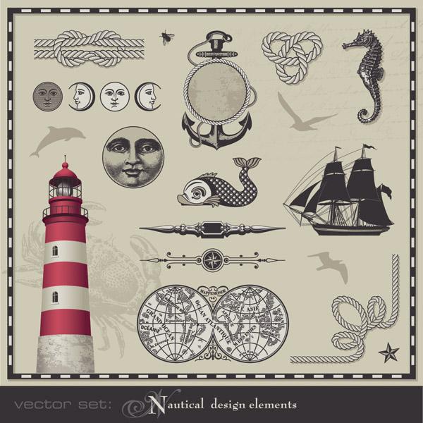 free vector Nautical theme graphics vector 2