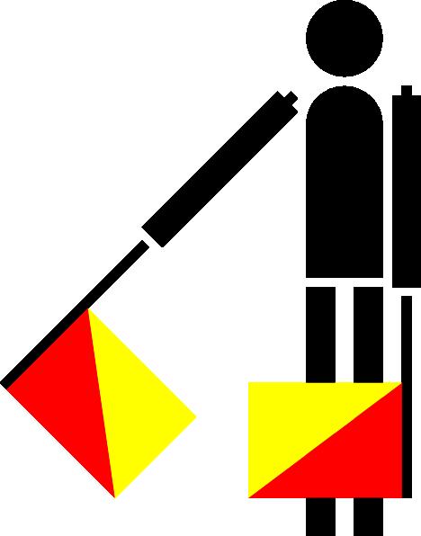 free vector Naval Semaphore Flag A clip art